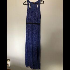 Blue burnout maxi dress.